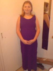 Dressed up michaela